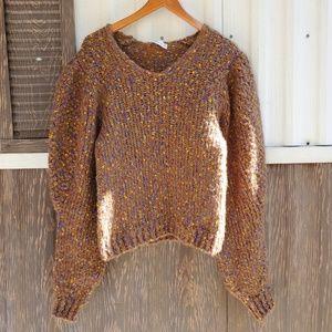Zara Knit chunky sweater pugger sleeve size S